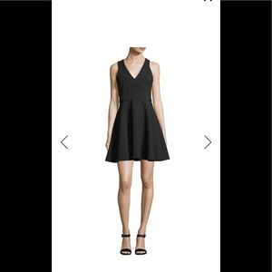 Likely Bunker V-Neck Fit-and-Flare Cocktail Dress